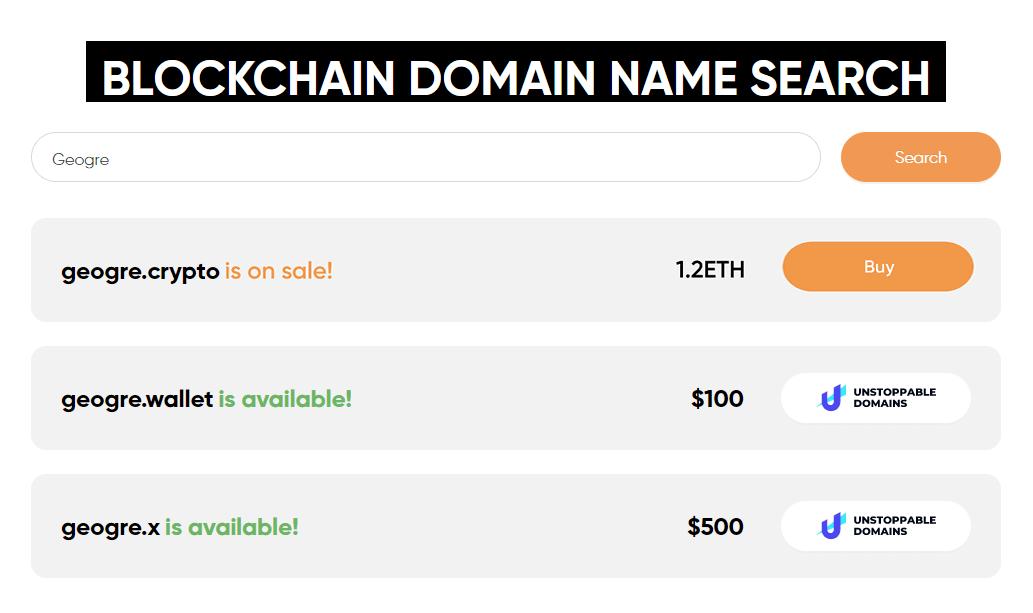 Buy Blockchain Domains